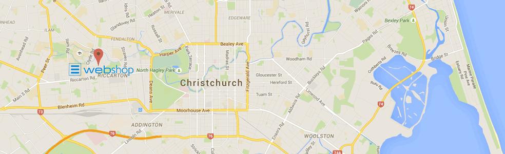 WebShop Chch Map